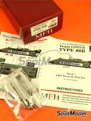 Maqueta de coche 1/43 Model Factory Hiro - Lotus Type 88B Essex Nº 11 - Elio de Angelis - Version de test y prensa 1981 - kit multimaterial image