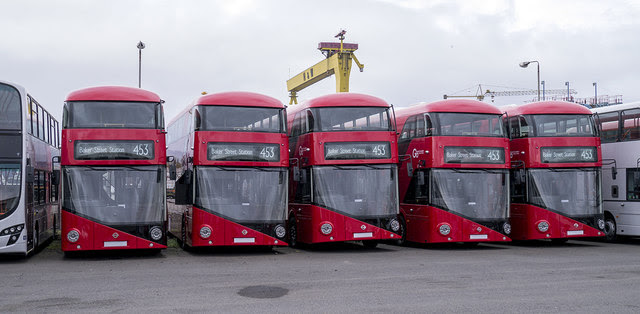 New Routemasters, East Belfast storage yard, 16 August 2014.jpg