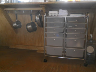 Kitchen Pot Hooks & Utensil Drawer