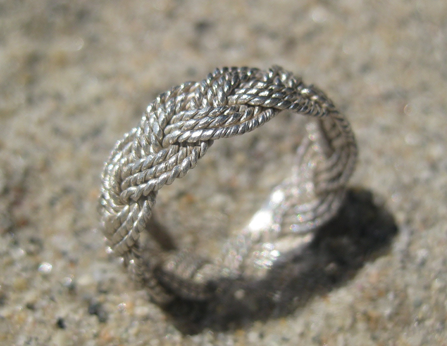 Braided Silver Fulani Style Ring