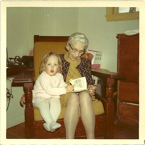 Me & Grandma R circa 1972