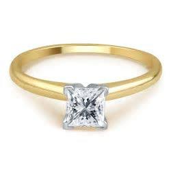 Tradition Diamond 3/4 Cttw. Certified Princess Cut 14K