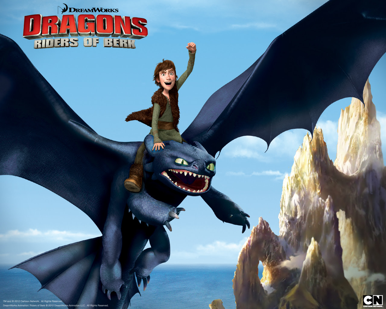 Hiccup And Toothless The Night Fury From Riders Of Berk Desktop