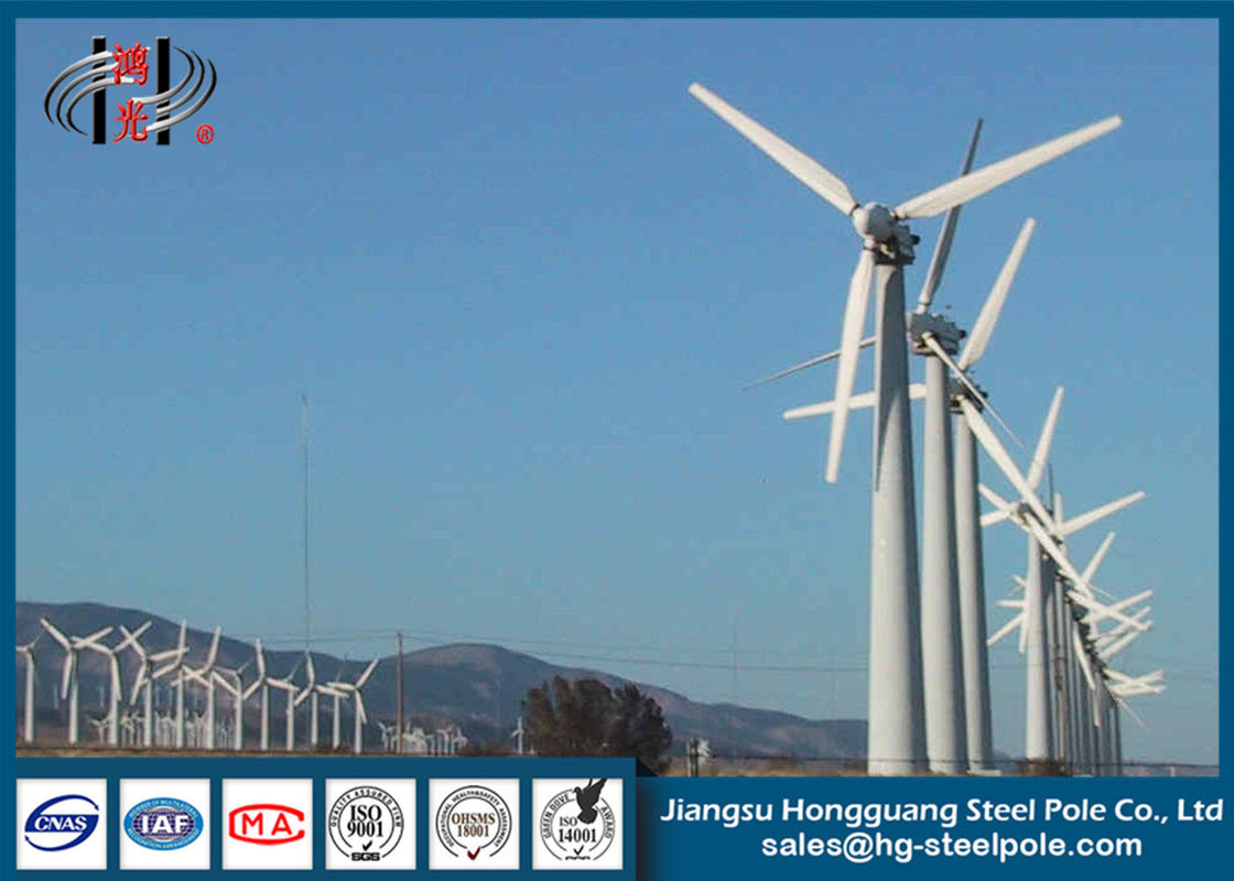Steel Hydraulic Conical Horizontal Axis Wind Turbine Pole Tower 20m