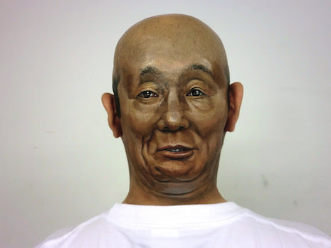 Face to Face 3-D body art by Hikaru Cho