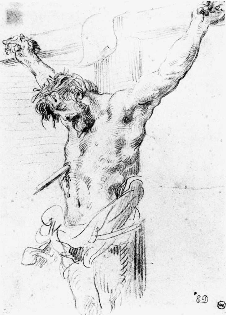 Christ on the Cross by Eugene Delacroix (1798-1863) [Public domain], via Wikimedia Commons