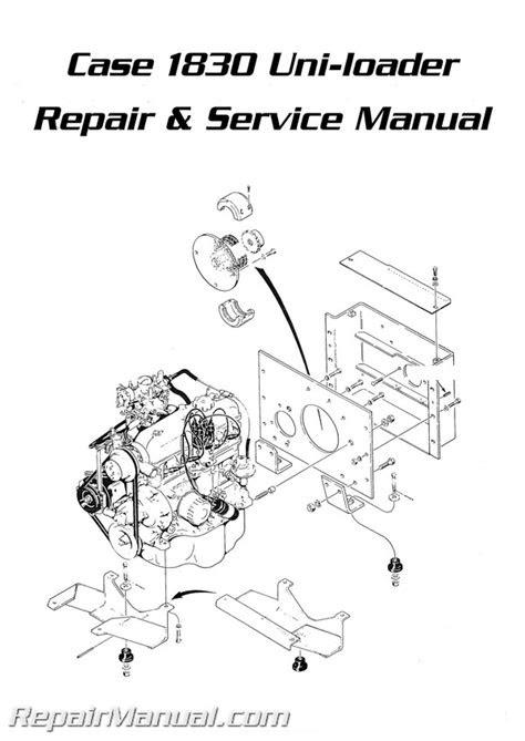 Case 1830 Uniloader Service Repair Manual