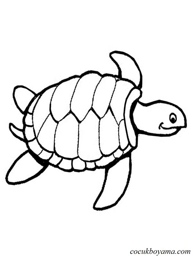 Kaplumbağa 9 ücretsiz Boyama Resimleri