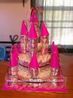 Coolest Baby Girl Castle Diaper Cake