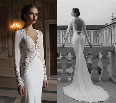 Vintage Lace Long Sleeves Berta Winter 2014 Wedding