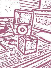iPod nanoとサイコロスピーカー