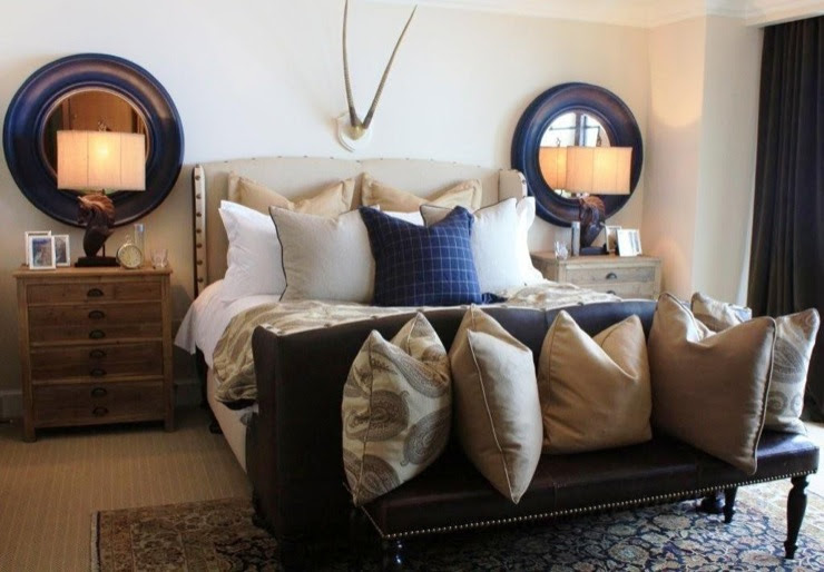 Lampsandpillows: Alder and Tweed Home Outfitters - Modern Mountain Bedroom Montage Deer Valley Model