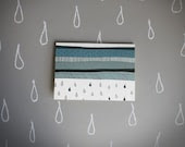 spring notecard set of 4 . rain storm blank note card .note card . stationery . cloud . water . blue and gray note card . - BranchandOlive