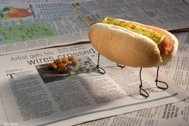 Funny bento objects by Terry Border - hot dog