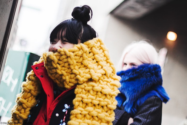 New_York_Fashion_Week-Fall_Winter_2015-Street_Style-NYFW-Bright_Scarf-