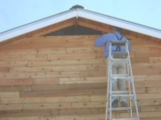 Installing Siding Near the Roof
