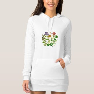 Botanicals on American Apparel Hoodie Dress