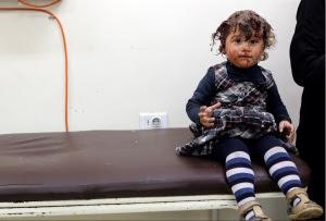 ילדה סורית פצועה
