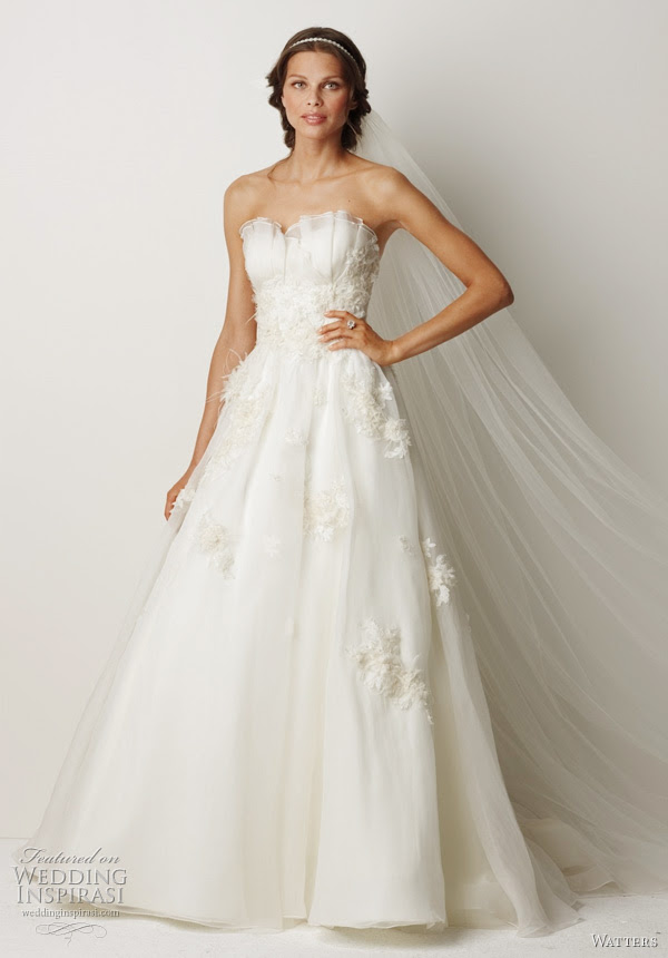 2011 wedding dress from Watters fall bridal collection Cairns Ivory