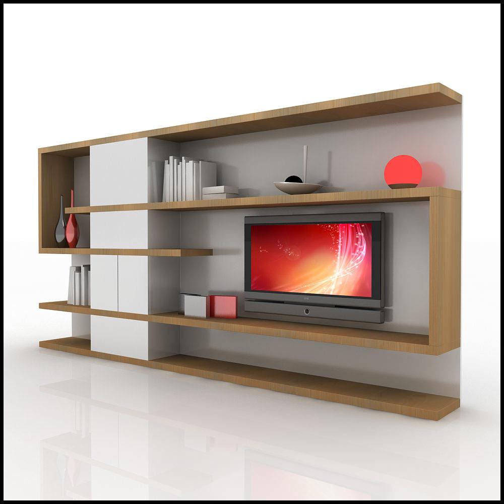 TV / Wall Unit Modern Design X_04 Home Media Center 3D Model .max ...