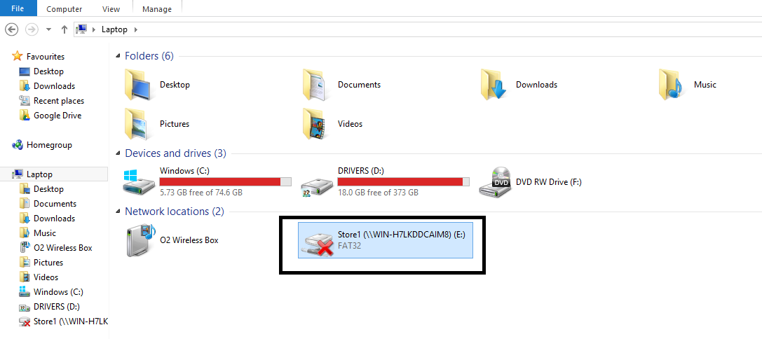 USB and SD showing as disconnected network drive - Windows ...