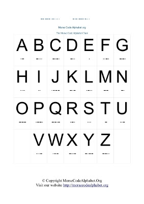 Morse Code Alphabets and Numbers Charts in PDF | Morse Code ...