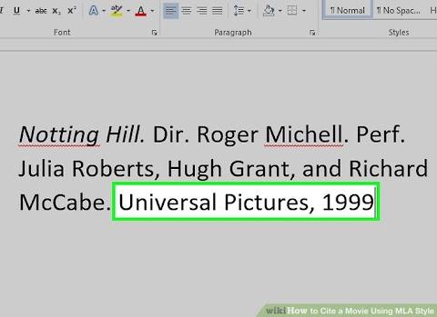 How To Cite A Film