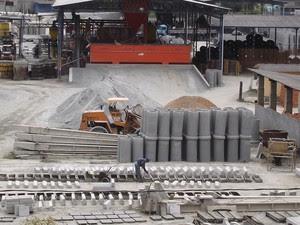 Trabalhador morre em acidente em fábrica de concreto em Atibaia (Foto: Reprodução/Jesus de Mari)