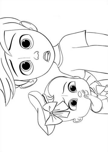 Images Of Cartoon Boss Baby Coloring Pages