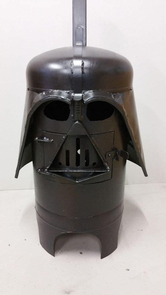 Diy Tutorial: Amazing Darth Vader Fire Pit / Log Burner ...