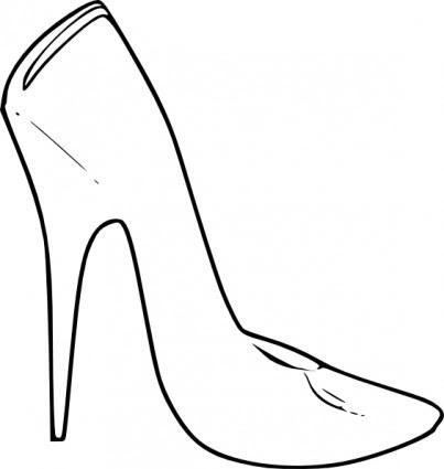 Yüksek Topuk Ayakkabı Kadın Moda Küçük Resim Vektör Küçük Resim
