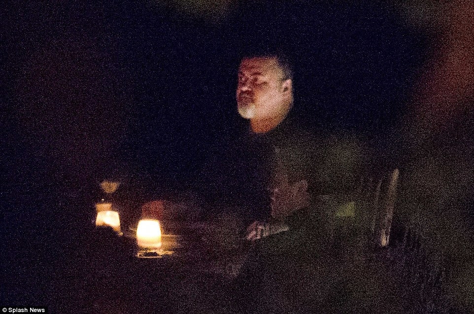 George Michael is seen at a restaurant this picture from September. He was found dead by a friend yesterday