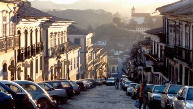 Uma das ladeiras de Ouro Preto: patrimônio cultural da Unesco