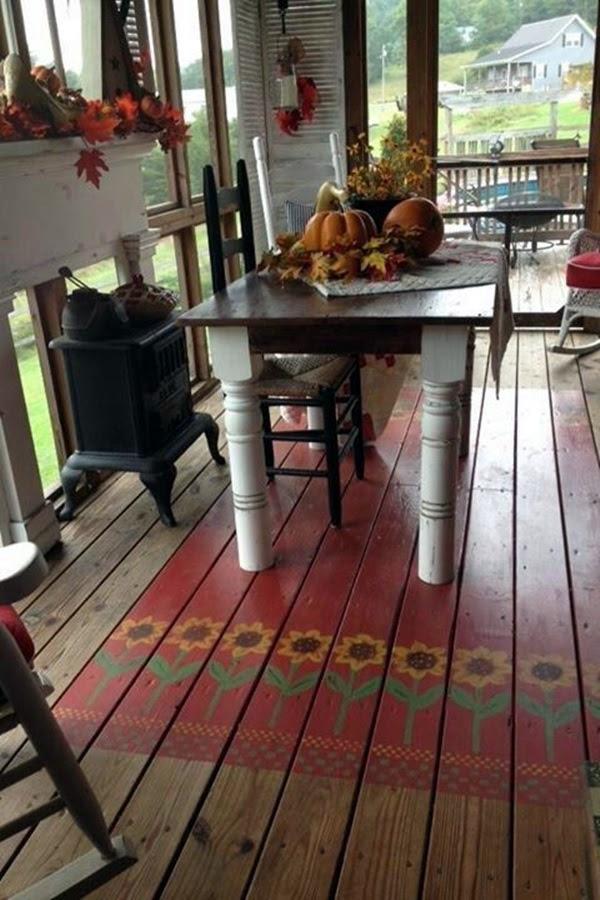 Creative Wood Floor Paint Decoration Art Works (39)