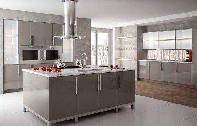 High Gloss Solid Surface Kitchen - Modern - Kitchen ...