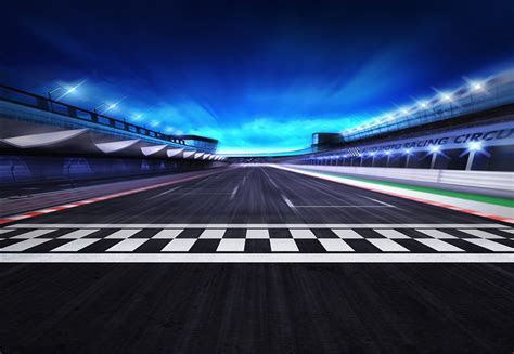 Cool Racing Track, Speedway, Racing, Sports Background