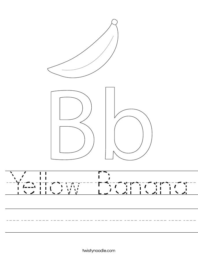 yellow banana_worksheet
