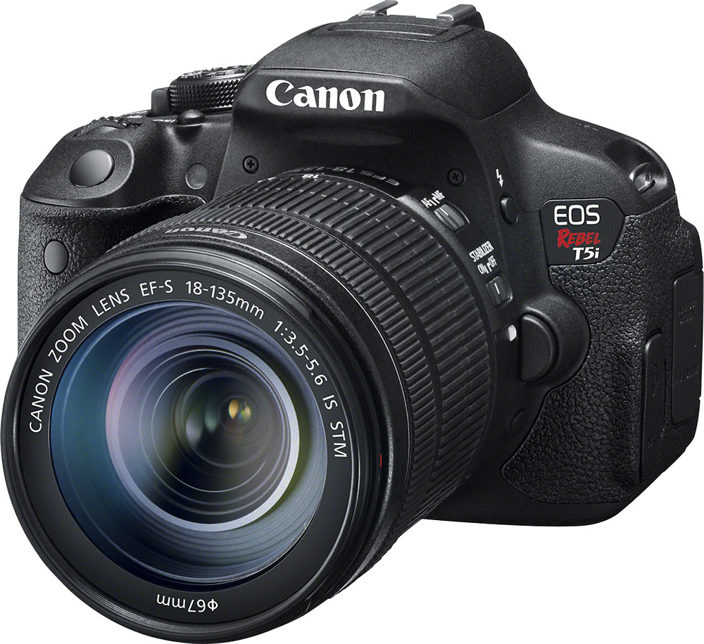 Canon - EOS Rebel T5i DSLR Camera with 18-135mm IS STM Lens - Black - Left Zoom