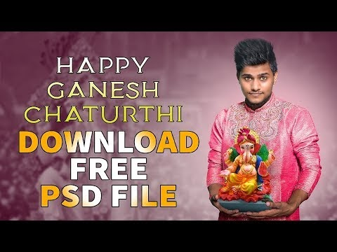 Ganesh Chaturthi Free PSD Download || Special Gift for All Friends || 20...
