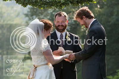 Ceremony on wedding hill