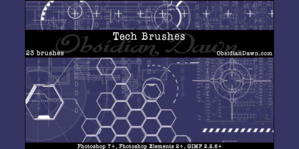 Tech Brushes - Photoshop