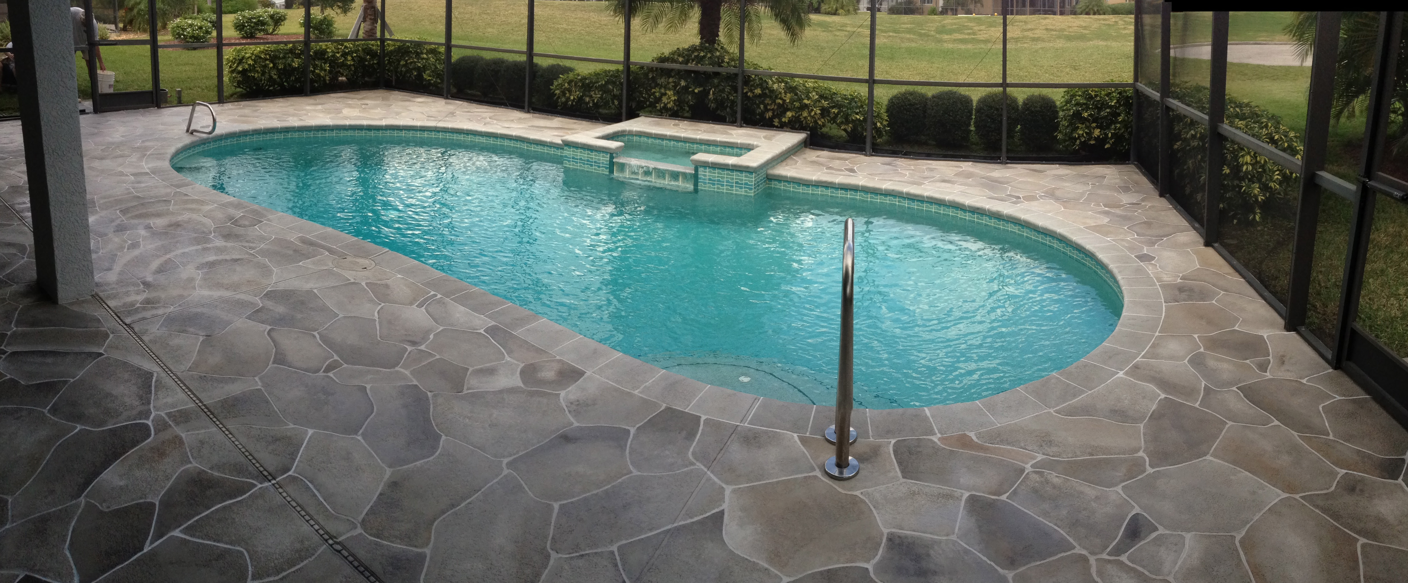 Concrete Designs Florida | pool deck painting