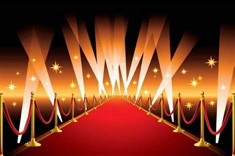 Celebrity Hollywood Gold Star Vip Red Carpet Scene photo