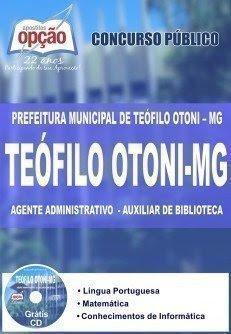 Apostila Prefeitura de Teófilo Otoni - Agente Administrativo