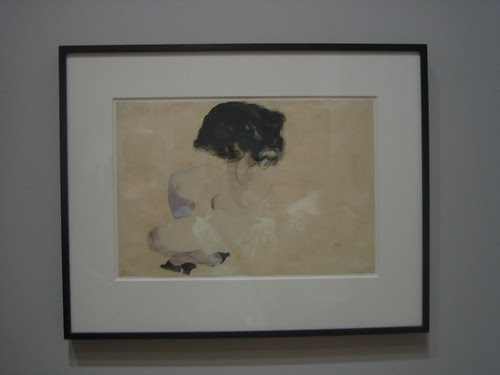 Nude with Violet Stockings and Black Hair, 1912, Egon Schiele _7437