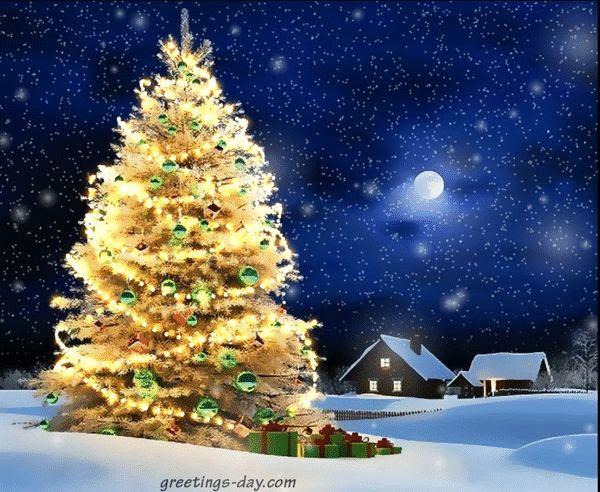 Christmas tree gif lights