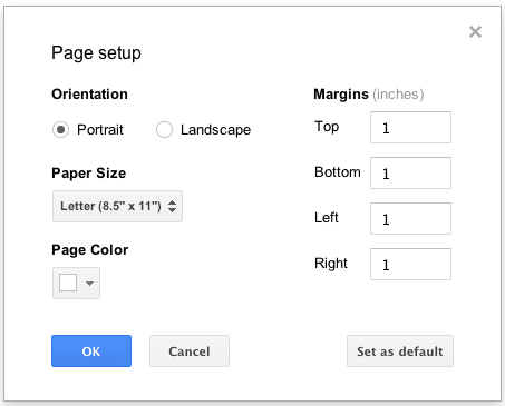 Once Youve Customized Your Margins You Can Click Set As Default To These The Page Size For Any New Documents Create
