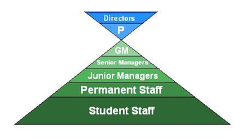 Staffing structure pyramid