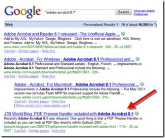 JTB World Blog: Adobe Acrobat and Adobe Reader on Google