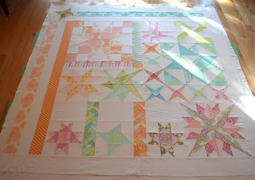 Mystery Quilt - basted